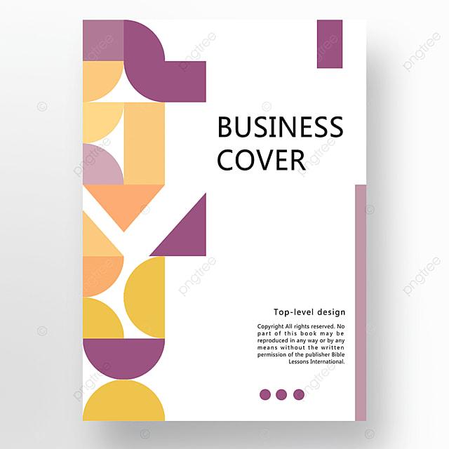 yellow purple orange modern minimalist fashion geometric business plan cover poster