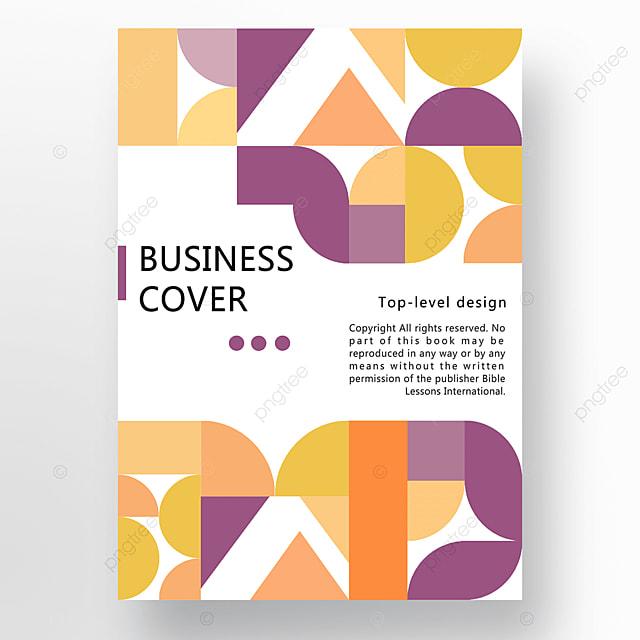 yellow purple orange modern minimalist geometric business plan cover poster