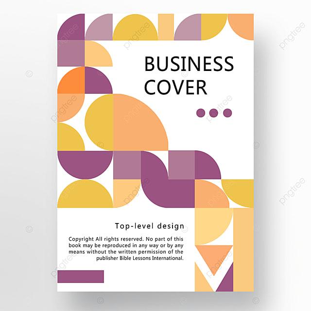 yellow purple orange modern texture geometric business plan cover poster