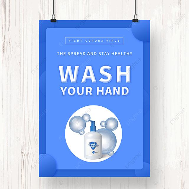 blue epidemic pneumonia virus protection poster