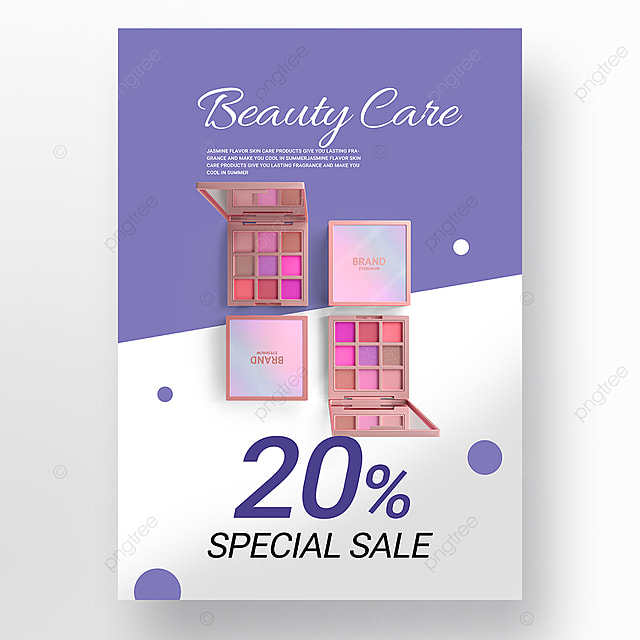 blue minimalist beauty product promotion poster promotion template