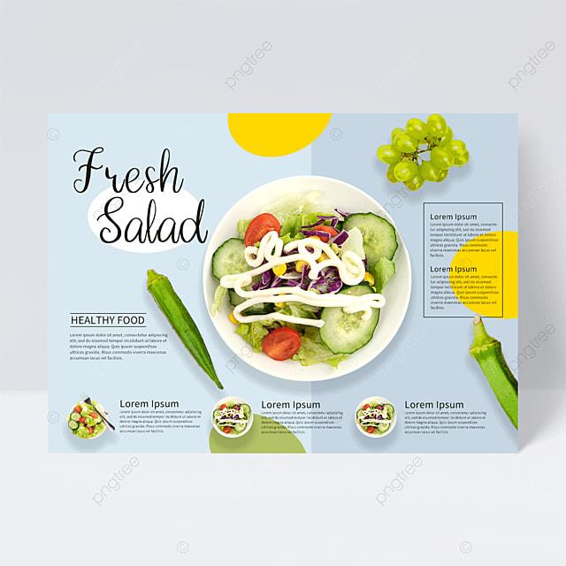 colorful restaurant salad flyer