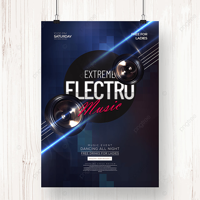 creative fashion electronic music party poster