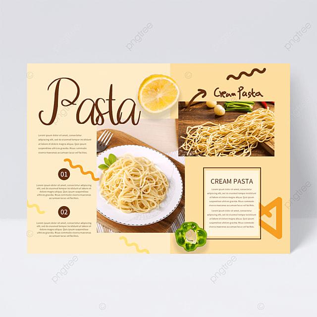 creative restaurant spaghetti flyer