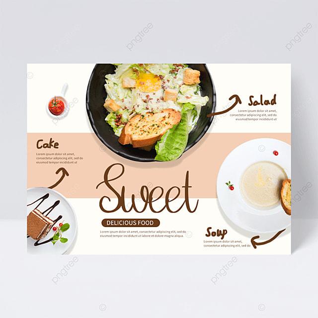 creative restaurant western food flyer