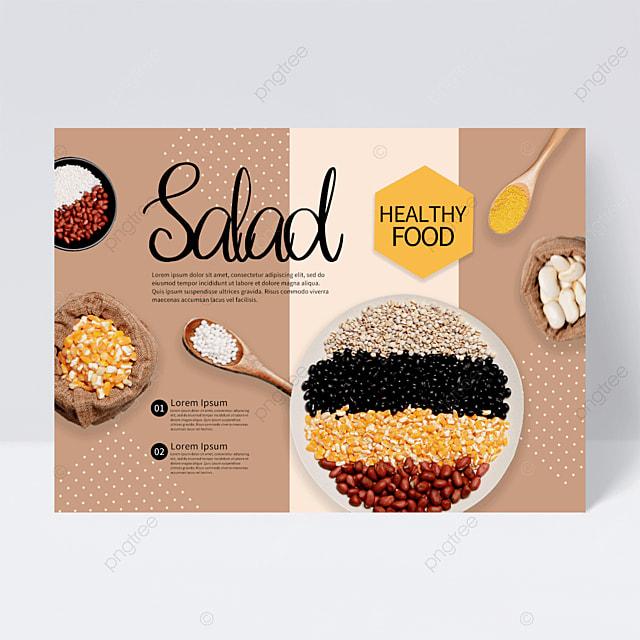 creative restaurant whole grains flyer