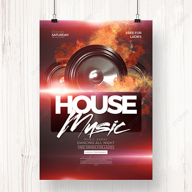 electronic music fashion cool party poster