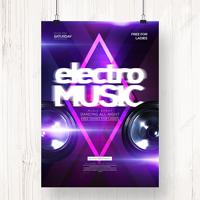 electronic music fashion cool personality party poster