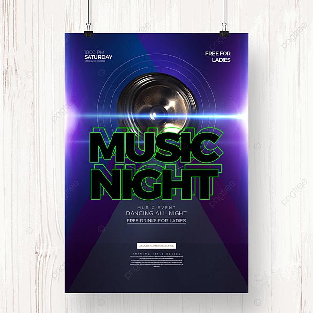 electronic music party stylish minimalist poster