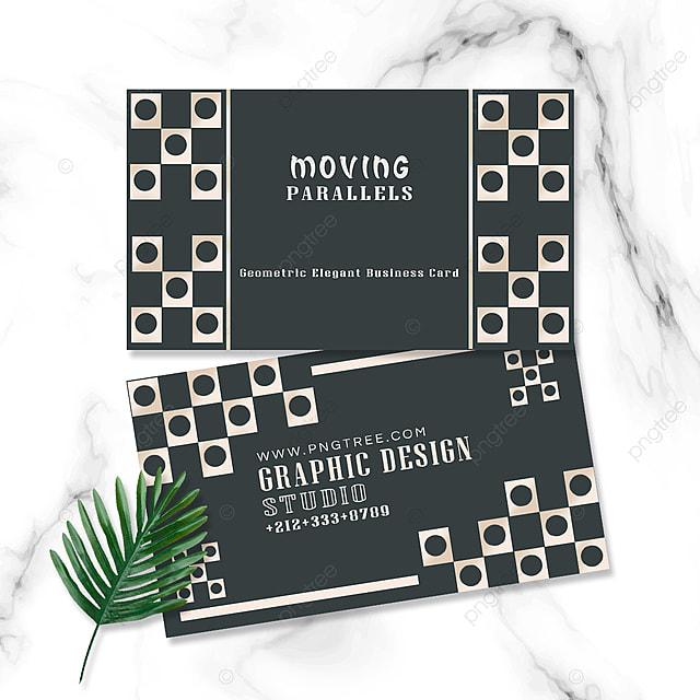 elegant geometric business card rectangle geometry