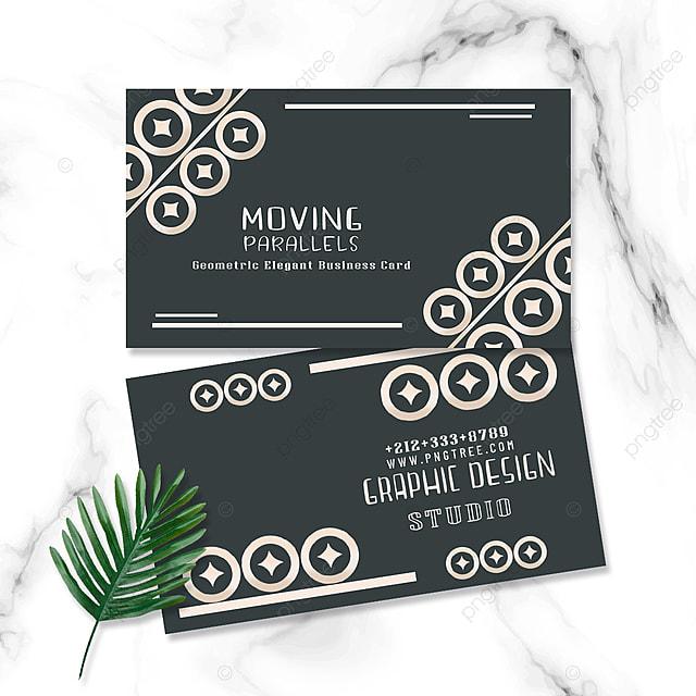 elegant geometric business card round retro geometric