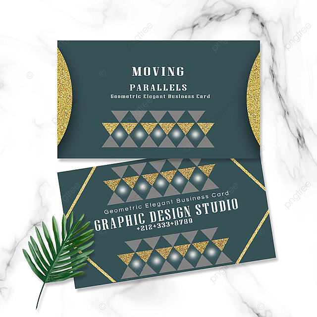 elegant geometric business card triangle retro golden geometric