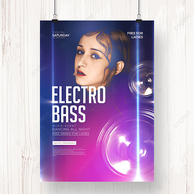 fashion creative electronic music party poster
