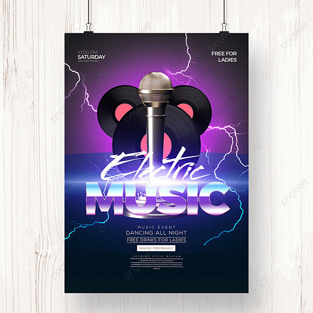 fashion personality electronic music creative party poster
