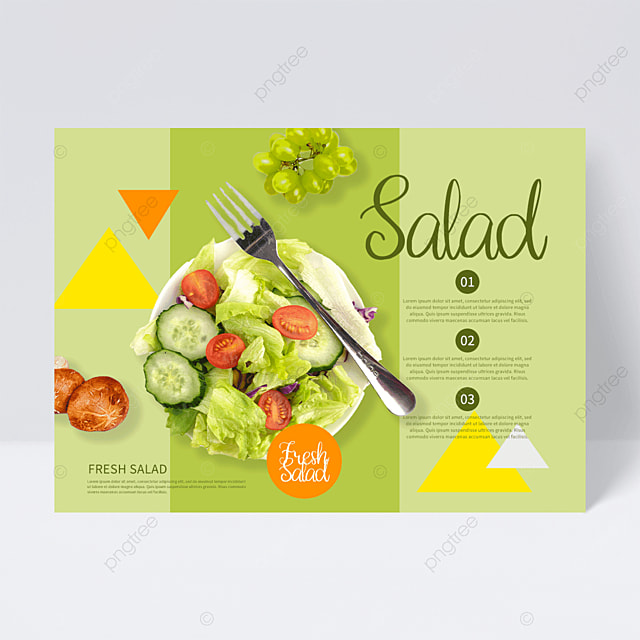 green creative salad flyer