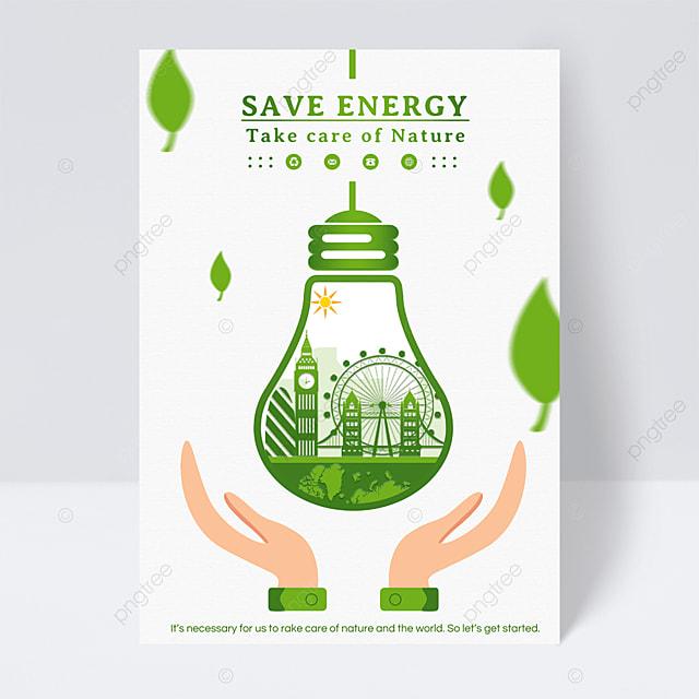 green energy saving leaflet