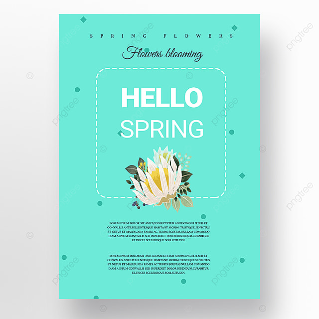 green minimalist creative new year poster promotion template