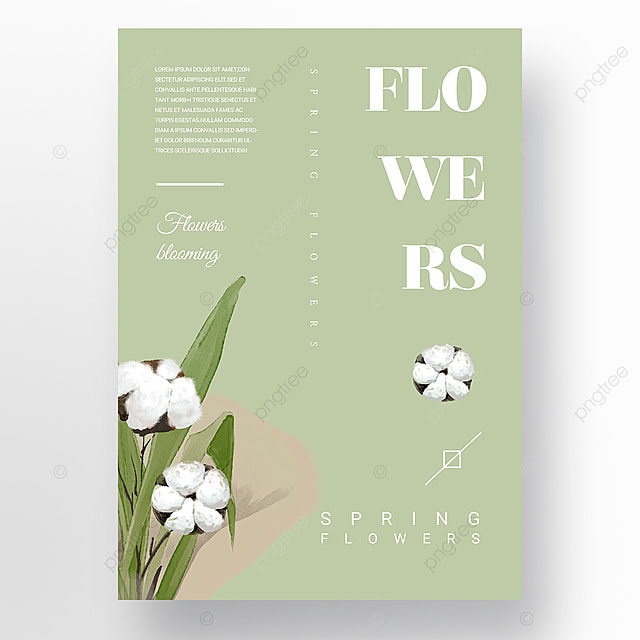 green simple and elegant minimalist creative new year poster promotion template