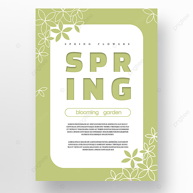 green white minimalist creative new year poster promotion template