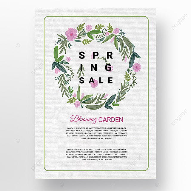 light color simple green border creative new year poster promotion template