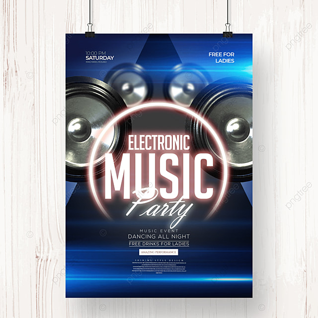 modern personality electronic music party poster