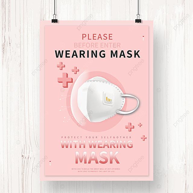 new crown epidemic protective mask propaganda poster