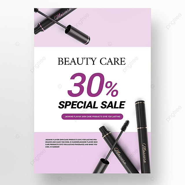 purple simple beauty product promotion poster promotion template