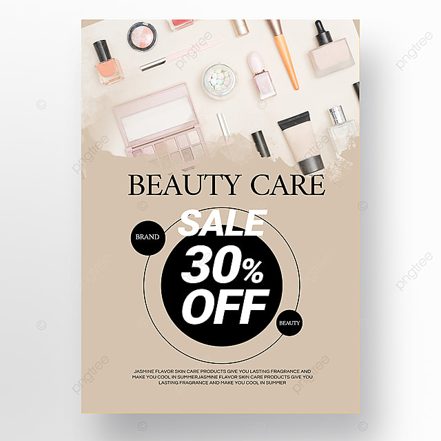 simple beauty makeup promotion poster template