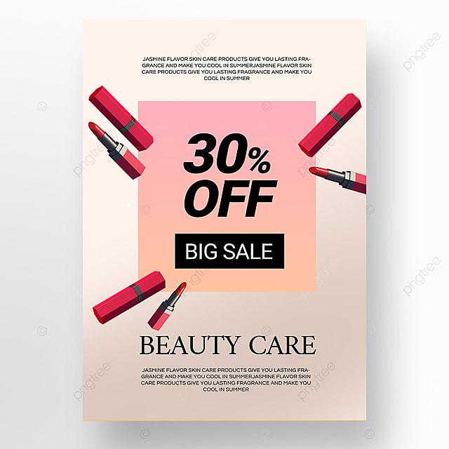 simple gradient beauty makeup promotion poster template