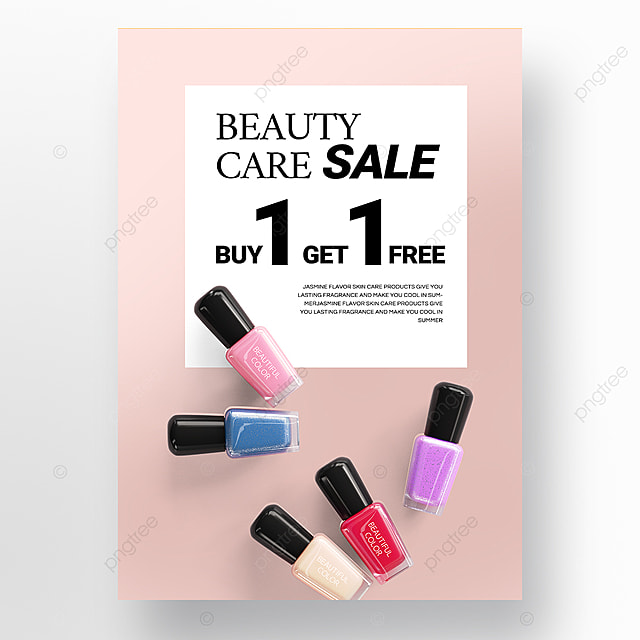simple pink gradient beauty product promotion poster promotion template