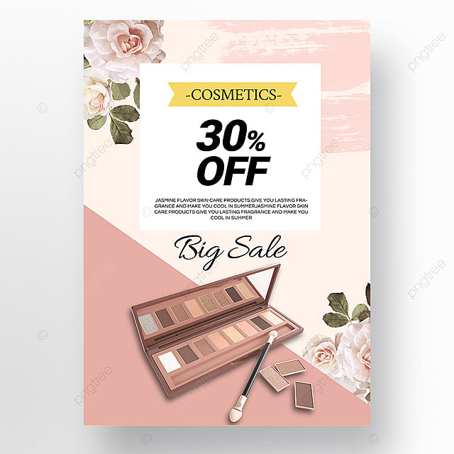 simple texture beauty makeup promotion poster template
