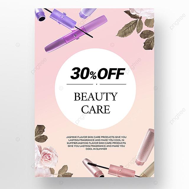 simple texture gradient beauty makeup makeup promotion poster template