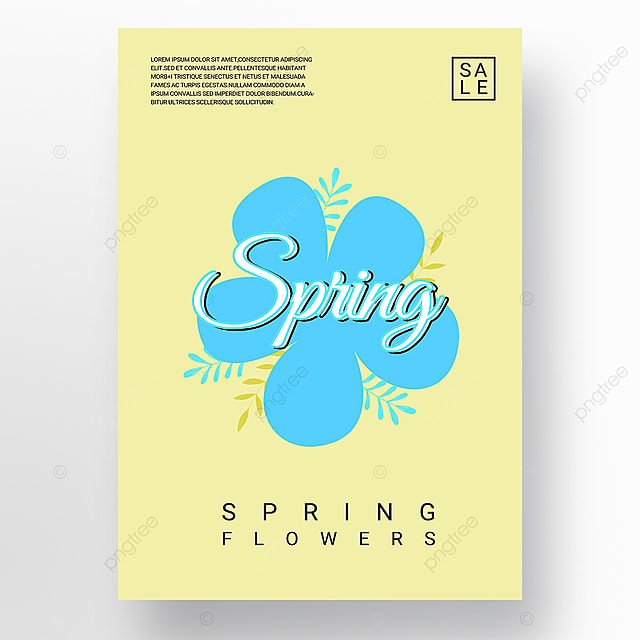 yellow minimalist creative new year poster promotion template