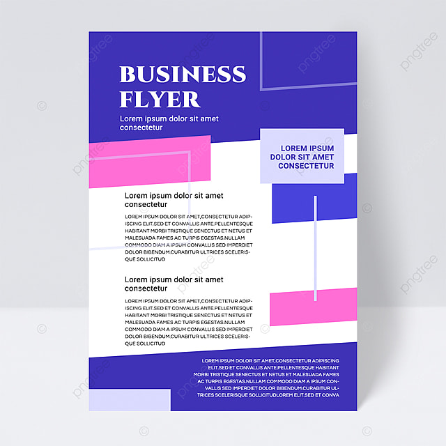 abstract business flyer with colorful shapes