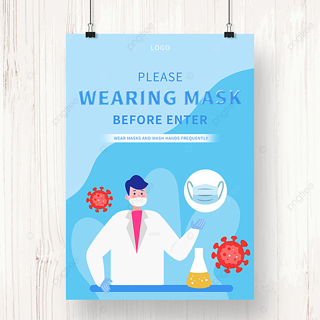 blue epidemic prevention medical promotion poster