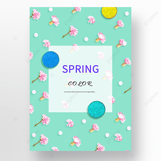 blue spring flowers background cosmetics poster