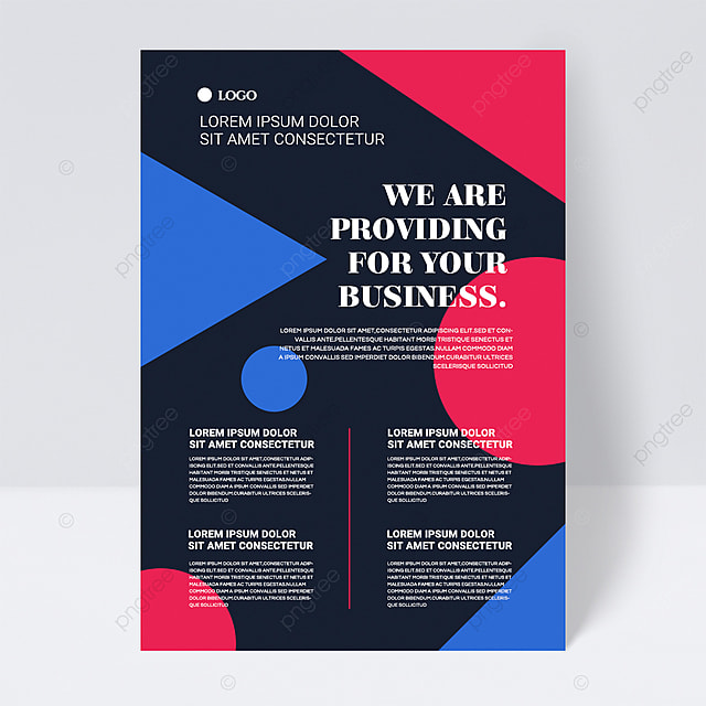 colorful simple texture geometric shape abstract business flyer