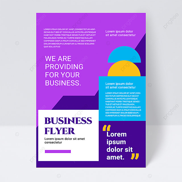 colorful simple texture shape abstract business flyer