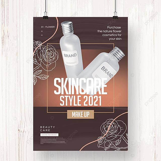 creative fashion line cosmetics promotion poster