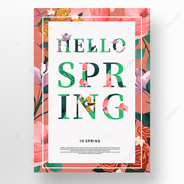 creative frosted texture high end fashion spring poster