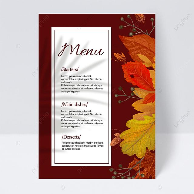 dark simple plant wedding menu