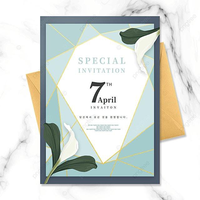 diamond lattice creative green lily invitation