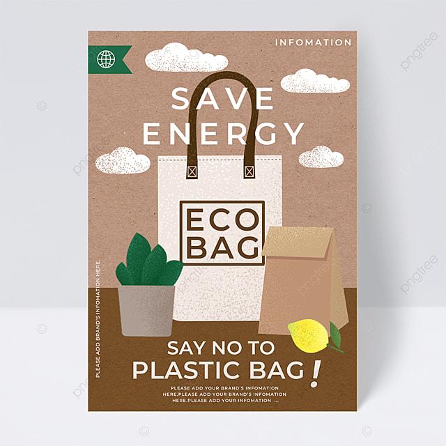 eco bag energy saving public welfare flyer
