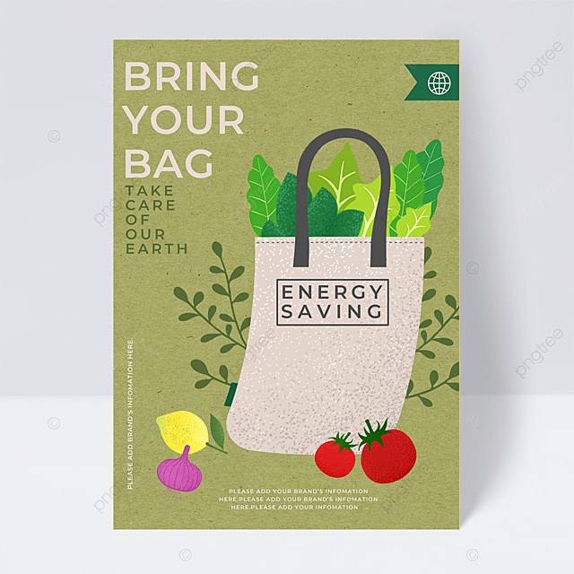 environmental protection bag care for the earth public welfare flyer