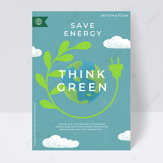 environmental protection green new energy public welfare flyer