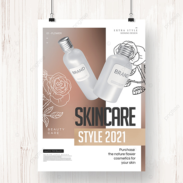 fashion minimalist geometric line cosmetics poster