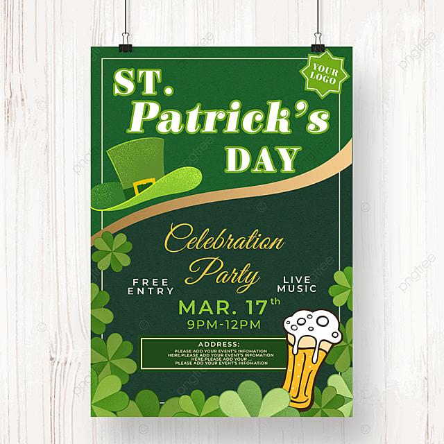 golden line st patricks day beer poster