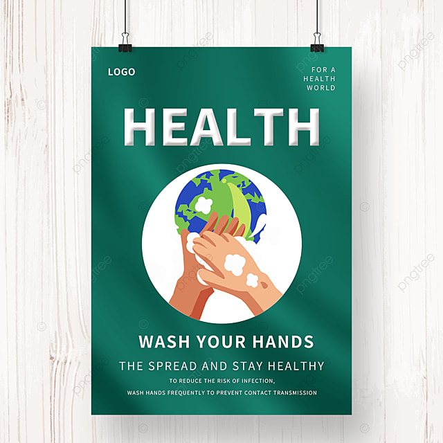 green and simple epidemic prevention and control hand washing public welfare poster