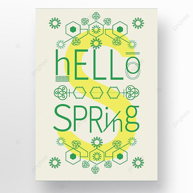 green creative spring minimalist geometric poster