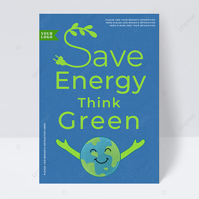 green energy and environmental protection flyer